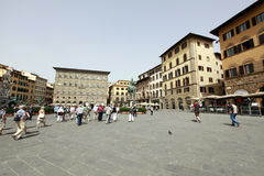 View of Piazza della Signoria in Florence, Tuscany, Italy. Stock Photography
