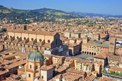 View of piazza maggiore - bologna Royalty Free Stock Photography
