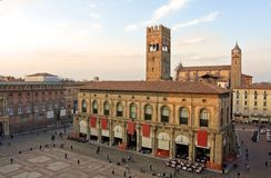 View of piazza maggiore - bologna Royalty Free Stock Photo