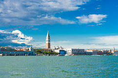 View Piazza San Marco with Campanile and Doge Palace Stock Image