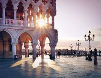 Piazza San Marco at sunrise, Vinice, Italy royalty free stock photos