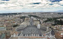 View of Piazza San Pietro and the city of Rome Royalty Free Stock Photos