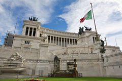 View on the Piazza Venezia in Rome Royalty Free Stock Photos