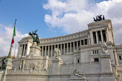 View on the Piazza Venezia in Rome Stock Image