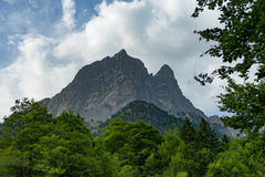 View of the Pic du Midi d`Ossau in the French Pyrenees Royalty Free Stock Photos