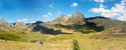 View of the Pic du Midi d`Ossau in the French Pyrenees. View of mountain the Pic du Midi d`Ossau in the French Pyrenees Stock Images