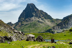 View of the Pic du Midi d`Ossau in the French Pyrenees Royalty Free Stock Photography