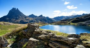View of Pic Du Midi Ossau in autumn, France, Pyrenees royalty free stock photo