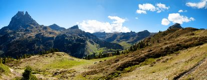 View of Pic Du Midi Ossau in autumn, France, Pyrenees stock image