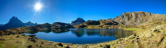 View of Pic Du Midi Ossau, France, Pyrenees stock photography