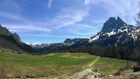 View of Pic du Midi Ossau in the french Pyrenees, springtime