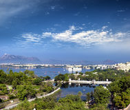 View of Pichola lake and Udaipur city India Rajasthan Stock Image