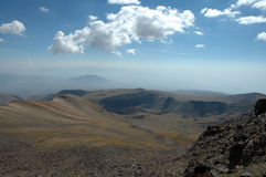 view from the pick of Aragats. Royalty Free Stock Photo
