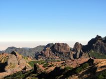 View from Pico Aiero, Madeira royalty free stock image