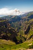 View from the pico do Arieiro on the Portuguese island of Madeir Stock Images