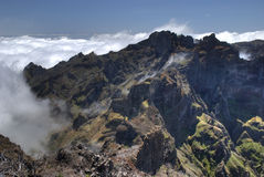 View from pico ruivo Royalty Free Stock Images
