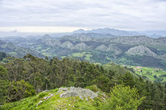 View of the Picos de Europa Stock Photography