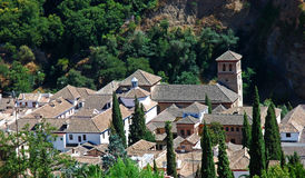 View on picturesque Andalusian town, Granada royalty free stock photography