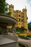 View of picturesque Castle Hohenschwangau in Bavaria, Germany Royalty Free Stock Photography
