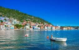 View of the picturesque coastal town of Gythio, Peloponnese. View of the picturesque coastal town of Gythio, Peloponnese, Greece royalty free stock images