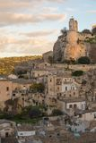 View of the picturesque Sicilian town of Modica. At sunrise Royalty Free Stock Photos