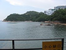 View of picturesque Stanley bay, Stanley, Hong Kong stock photography