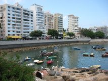 View of picturesque Stanley bay, Stanley, Hong Kong stock photos