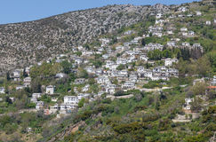 View of the picturesque village of Makrinitsa, Pelio, Greece Royalty Free Stock Images