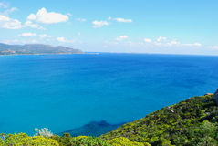 View of a piece of colorful nature in Villasimius (Sardinia) wit Royalty Free Stock Photography