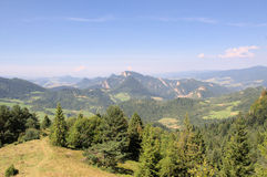 The view of Pieniny mountains. (Poland Royalty Free Stock Photos