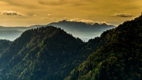 View of the Pieniny Mountains. stock video footage