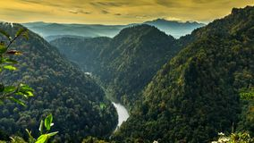 View of the Pieniny Mountains. stock footage