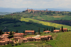 View on the Pienza in Tuscany Stock Photos