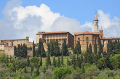 View on the Pienza in Tuscany Stock Photography