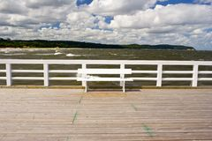 View from the pier on the architecture of Sopot, Poland Stock Photos