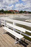 View from the pier on the architecture of Sopot, Poland. View from the pier of Sopot, Poland royalty free stock photo