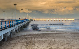 View on pier and Baltic Sea in Palanga, Lithuania Stock Photo