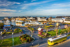 View of Pier 39, at the Embarcadero in San Francisco  Royalty Free Stock Image