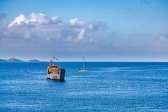 View from the Pier in Grenada. Taken in Grenada Capital City, St. George Stock Image