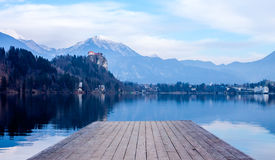 View from pier on Lake Bled Stock Photos