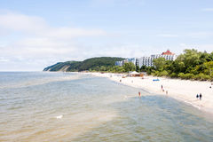 View from the pier on Miedzyzdroje Stock Photography
