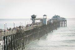 View of the pier in Oceanside Royalty Free Stock Images