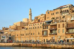 View from the pier on the old Jaffa royalty free stock photography