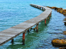 View from the pier on the sea at loneliness beach on Thai island Koh Kood. Thailand Stock Photos