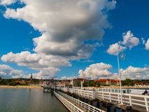 View from the pier at Sopot. With summer clouds, Poland stock photo