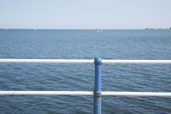 View from Pier towards Sea, England Stock Photography