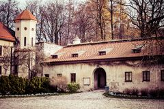 View of Pieskowa Skala Castle and garden, medieval building near Krakow, Poland Stock Photography