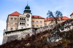 View of Pieskowa Skala Castle and garden, medieval building near Krakow, Poland Stock Photos