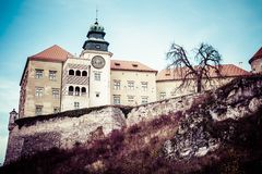 View of Pieskowa Skala Castle and garden, medieval building near Krakow, Poland Stock Photo