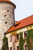 View of Pieskowa Skala Castle and garden, medieval building near Krakow, Poland Royalty Free Stock Images